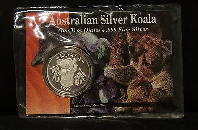 1999 Downies 1oz Silver Proof Koala Coin Medallion use code COZZIE for 10% off