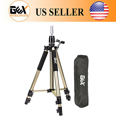 GEX Cosmetology Heavy Duty Canvas Block Head Tripod Mannequin Stand Gold Color
