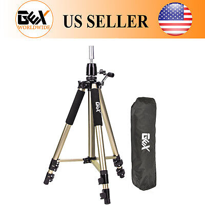 GEX Gold Color Mannequin Head Tripod Canvas Block Head Stand Heavy Duty Tripod