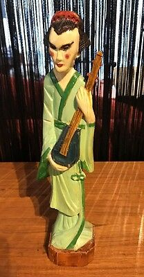 Collectable vintage Wooden Japanese Statue . WILL POST