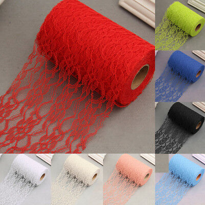 22M Lace Roll Ribbon Fabric 6inch wide long for Wedding Bouquet Party Decor UK