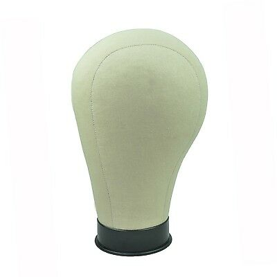 GEX New Cork Canvas Block Head Mannequin Display Head for Wig with Mount Hole