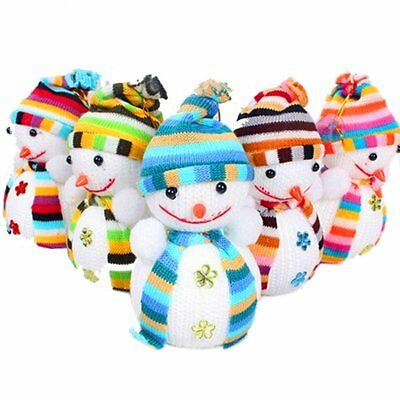 6Pcs Christmas Snowman Hanging Decoration Ornaments Festival Party Xmas Tree