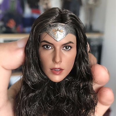 In stock 1/6 Gal Gadot wonder woman head sculpt fit toys phicen female body