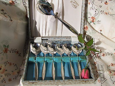 SET of  Vintage Rodd EPNS A1 Silver Plated Sweets set Ballerina Pattern