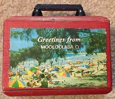 Souvenir Wooden Money box Greetings From MOOLOOLABA Queensland