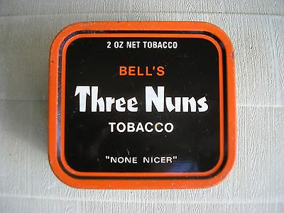 Bell's Three Nuns tobacco tin 2 oz vintage antique collectable made in England