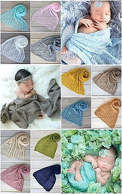 Knitted Newborn Wrap - Photography Photo Prop - Multiple Colors Available - Knit