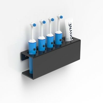 Wall Mounted  Electric Toothbrush Holder & Toothpaste Holder Bathroom Organiser
