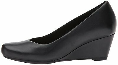 2aa1f5f2e9e5 CLARKS FLORES TULIP Black Women s Closed Toe Wedge Pump 30117 ...