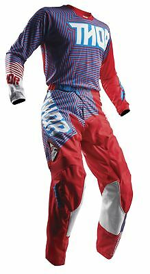 2018 Thor Pulse MX Jersey & Pant Combo Geotec Red/Blue