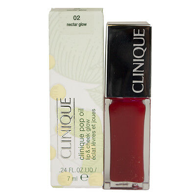 "CLINIQUE POP OIL LIP & CHEEK GLOW ""02 Nectar Glow"" BRAND NEW"