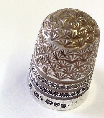 Antique Charles Horner Silver Thimble Chester 1903