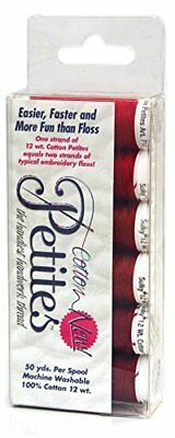 Sulky Sampler 12 Wt. Cotton Petites-Six Pack-Redwork Assortment