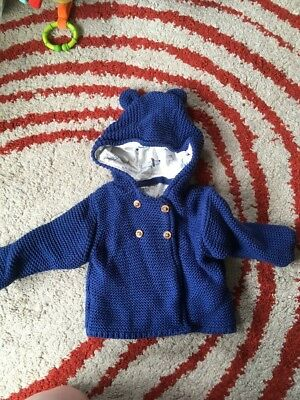 M And S Baby Jumper Blue 0-3 Months