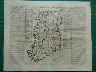 map of IRELAND  1707 - 1719  by  Chatelain