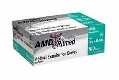 Vinyl latex free, powder free examination gloves 100 gloves per box, 3 sizes