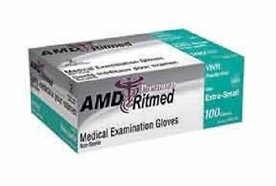 1000 Vinyl latex free, powder free examination gloves 100 gloves per box,3 sizes