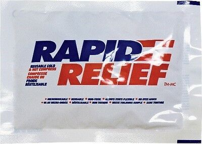 """24 Rapid Relief Deluxe Cold & Hot Gel Compress With Contour-Gel size 5"""" x 6"""""""