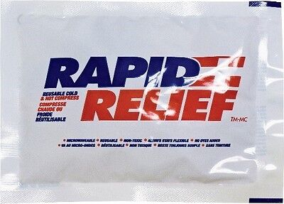 """24 Rapid Relief Deluxe Cold & Hot Gel Compress With Contour-Gel size 7"""" x 9"""""""