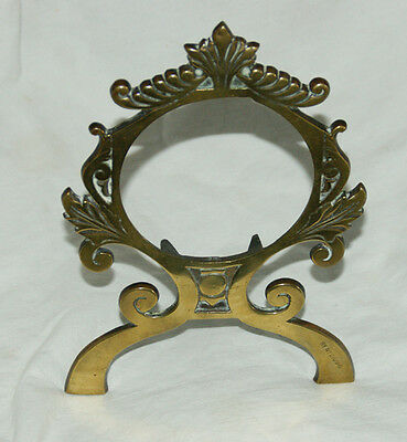 Antique Victorian Brass Easel Clock Frame/Stand