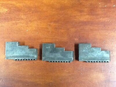 Vintage Jaw Lathe Chuck Replacement Set Of 3  98