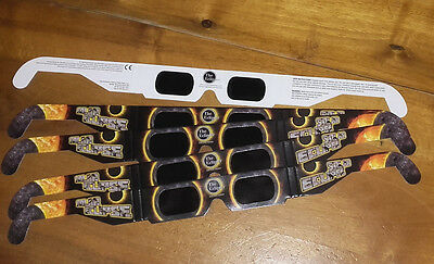 5 paires lunette éclipse glasses american  eyes protection solar viewing