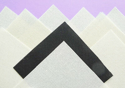"10 pieces 14 count Aida cross stitch fabric mixed 4½"" x 4½""/ 11.5 cm (L"