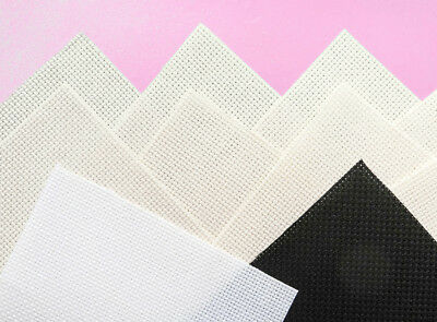 "10 pieces 14 count Aida cross stitch fabric mixed 4½"" x 4½""/ 11.5 cm (M"