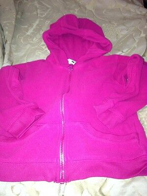 Columbia Girls 5T Pullover Hot Pink Fleece Jacket Pull Over Zip Youth 5T