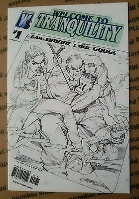 Welcome To Tranquility #1 J Scott Campbell Sketch Variant Low Print Run Vhtf
