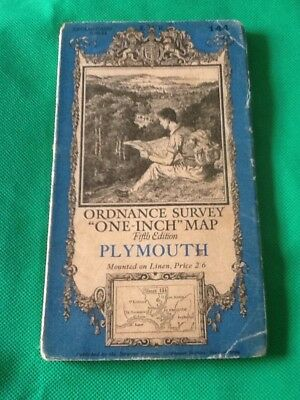 Ordnance Survey Map Fifth Edition Plymouth Vintage Map Sheet 144