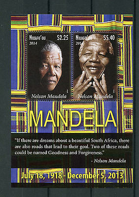 Niuafo'ou Tonga 2014 MNH Nelson Mandela 2v M/S Politicians World Leaders Stamps