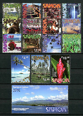 Samoa 2016 MNH Tourism & Culture 16v Set Trees Flowers Bats Landscapes Stamps