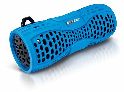 AXESS SPBW1035BL Portable Water Resistant Bluetooth Loud Speaker System with to