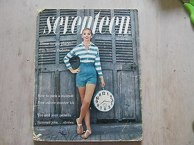 Vintage Seventeen Magazine May 1956 Loaded with Fashion