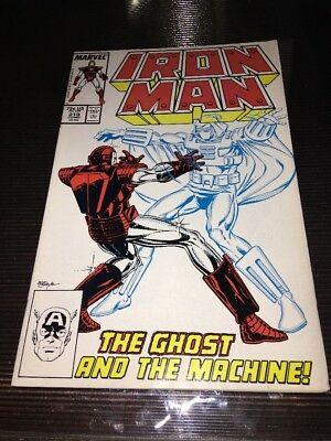 Iron Man #219 (1987, Marvel)1st App of the Ghost! Ant-Man & Wasp Movie HOT!!!