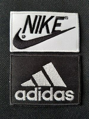 NIKE ADIDAS Embroidered Iron Sew On Patch Dress Costume T Shirt Bag badge