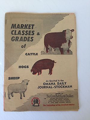 Market Classes & Grades of Cattle, Hogs and Sheep- Omaha Daily Journal-Stockman