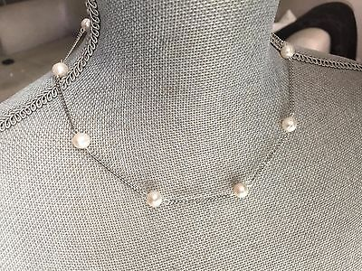 Bridal Pearl necklace, Women's pearl pendant ,freshwater pearls, white pearls