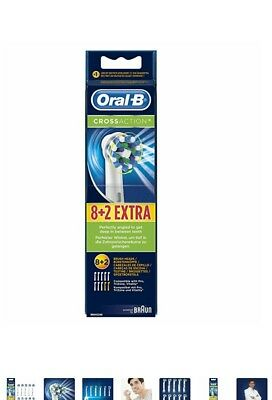 Oral-B CrossAction Aufsteckbürsten  10er Pack/ 100% Original