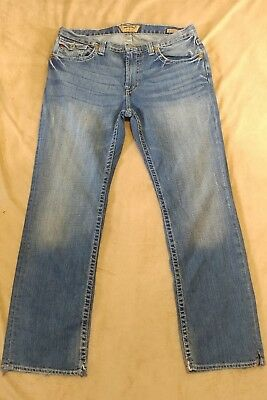 (K) Big Star Jeans Mens 36 R Union Straight Leg Distressed Denim