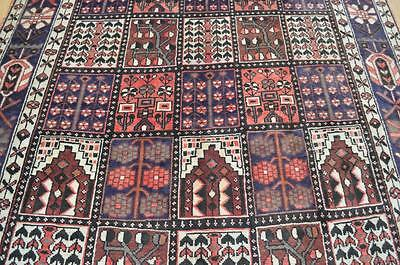 6'5x10 Amazing Genuine S Antique Persian Bakhtiari Tribal Hand Knotted Wool Rug