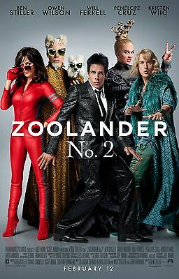 ZOOLANDER 2 MOVIE POSTER 2 Sided ORIGINAL INTL FINAL 27x40 BEN STILLER