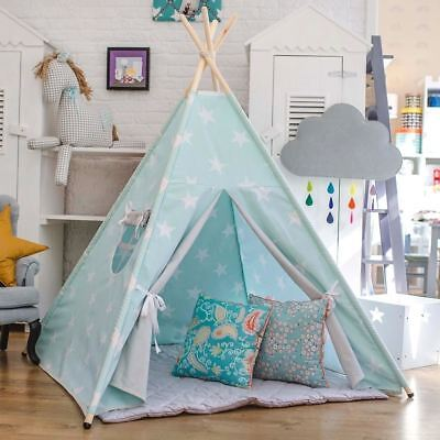 Child's teepee Mint and White Stars Wigwam Tent Tipi Teepe