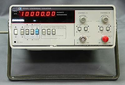 HP 5314A Hewlett Packard  Frequency Counter 100MHZ with Opt 001 TCXO 002 Battery