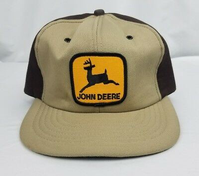 Vintage John Deere Tractor snapback hat made in the USA