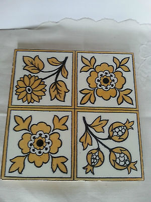 Antique Minton Hollins 8 By 8 High Relief Tile 163 17 00