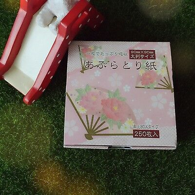 [KYOWA] Blotting / Oil Control Papers Box - 250 sheets Made in Japan -UK Seller-