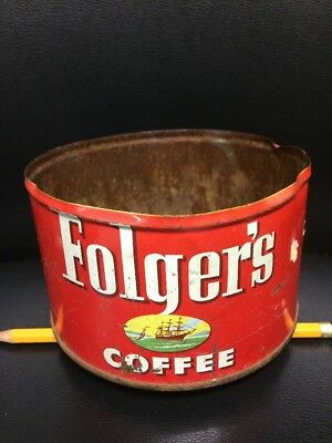 FOLGER'S COFFEE CAN KEY CAN Vintage Folger's Coffee Tin 1952